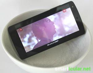 Handy Klang verstärken mit Glas und Schüssel