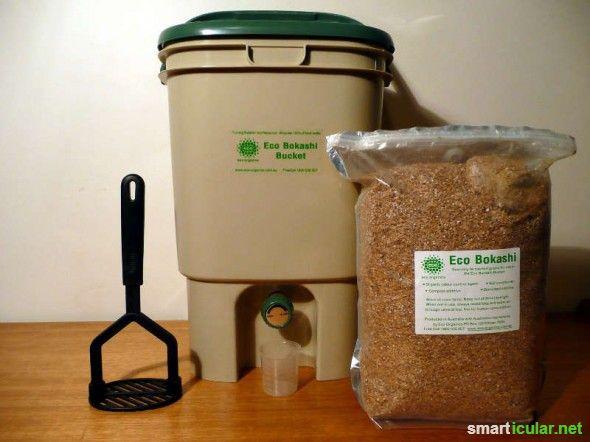 kompostieren direkt in der Küche mit Bokashi Eimer