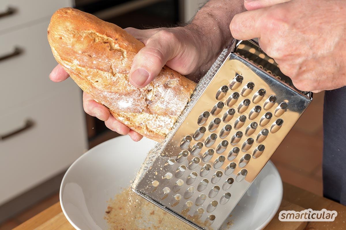 Damit hartes, pappiges Brot nicht sinnlos im Müll landet, sind hier die besten Tipps und Rezepte, mit denen sich altes Brot einfach verwerten lässt.