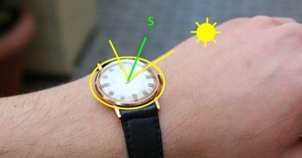 wozu einen kompass kaufen benutze einfach deine armbanduhr. Black Bedroom Furniture Sets. Home Design Ideas