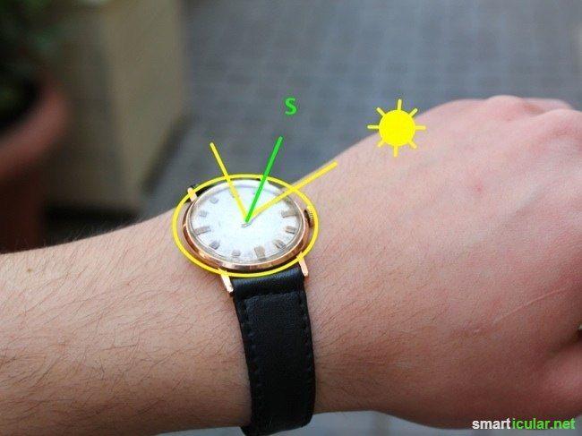 Armbanduhr als Kompass benutzen