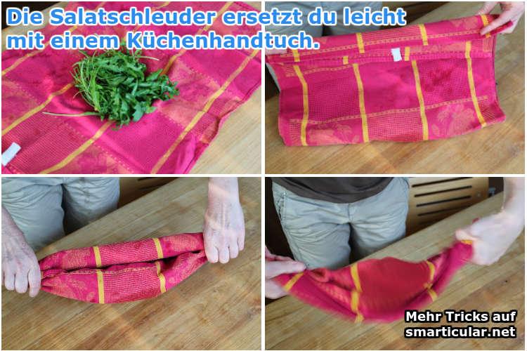 handtuch als salatschleuder benutzen