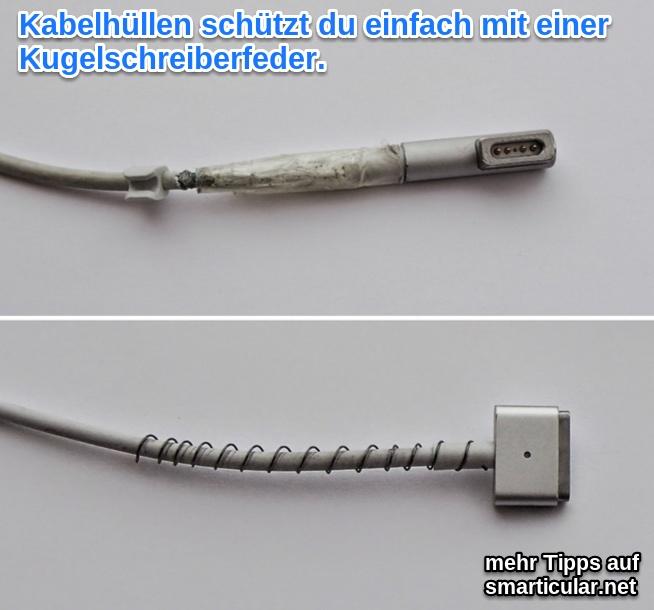 Apple Netzteile und Lightning Kabel mit Feder vor Bruch schützen
