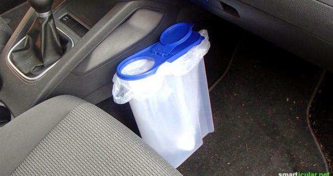 Müslibox als Mülleimer für das Auto