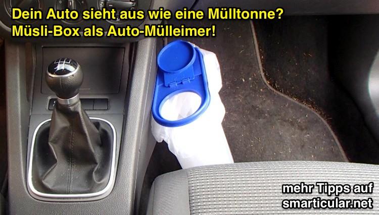 Müslibox Mülleimer fürs Auto