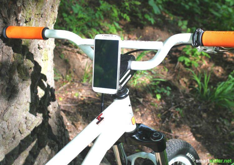 smartphone halter f r 39 s fahrrad selbst gebaut. Black Bedroom Furniture Sets. Home Design Ideas