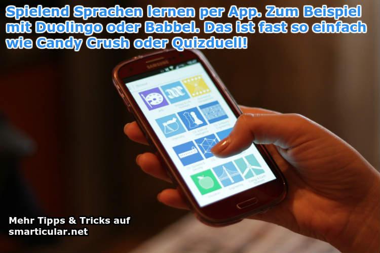 Sprachen lernen nebenbei per Smartphone App
