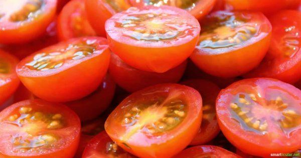 ganz schnell viele Kirschtomaten und Charry Tomaten schneiden