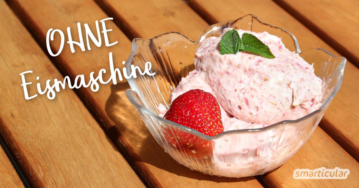 Heißer Sommertag? Mit diesem Rezept stellst du schnell deine eigene Eiscreme her. Für diese leckere Erfrischung benötigst du nicht einmal eine Eismaschine