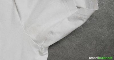 Wie entferne ich gelbe Flecken unter den Achseln in weißen T-Shirts?