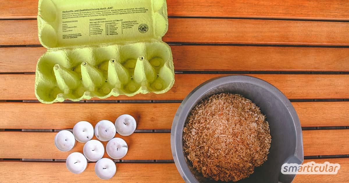Grillanzünder selbst gemacht - ökologisch aus recycelten Abfällen