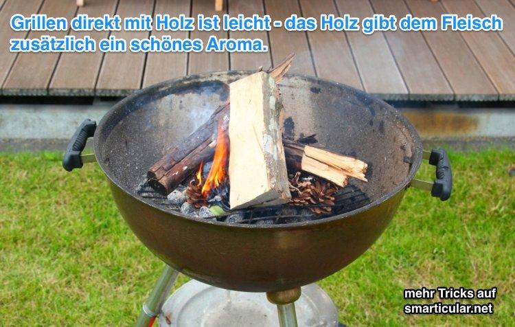 Wie du Holzkohle für den Grill einfach selbst herstellst
