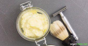 Pflegende Rasiercreme selbst herstellen - biologisch mit Sheabutter