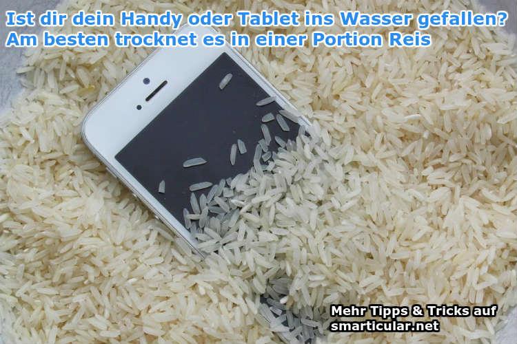 handy oder tablet ins wasser gefallen? schnelle hilfe