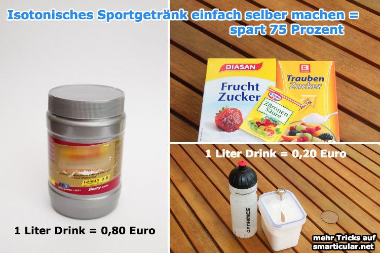 Iso-Drink für den Sport - erstaunlich preiswert selber machen [Rezept]