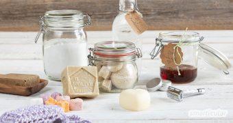Statt Shampoo, Mundspülung oder Haargel mit ungesunden Zutaten und in müllintensiver Verpackung zu kaufen, kannst du viele Körperpflegemittel selber machen.