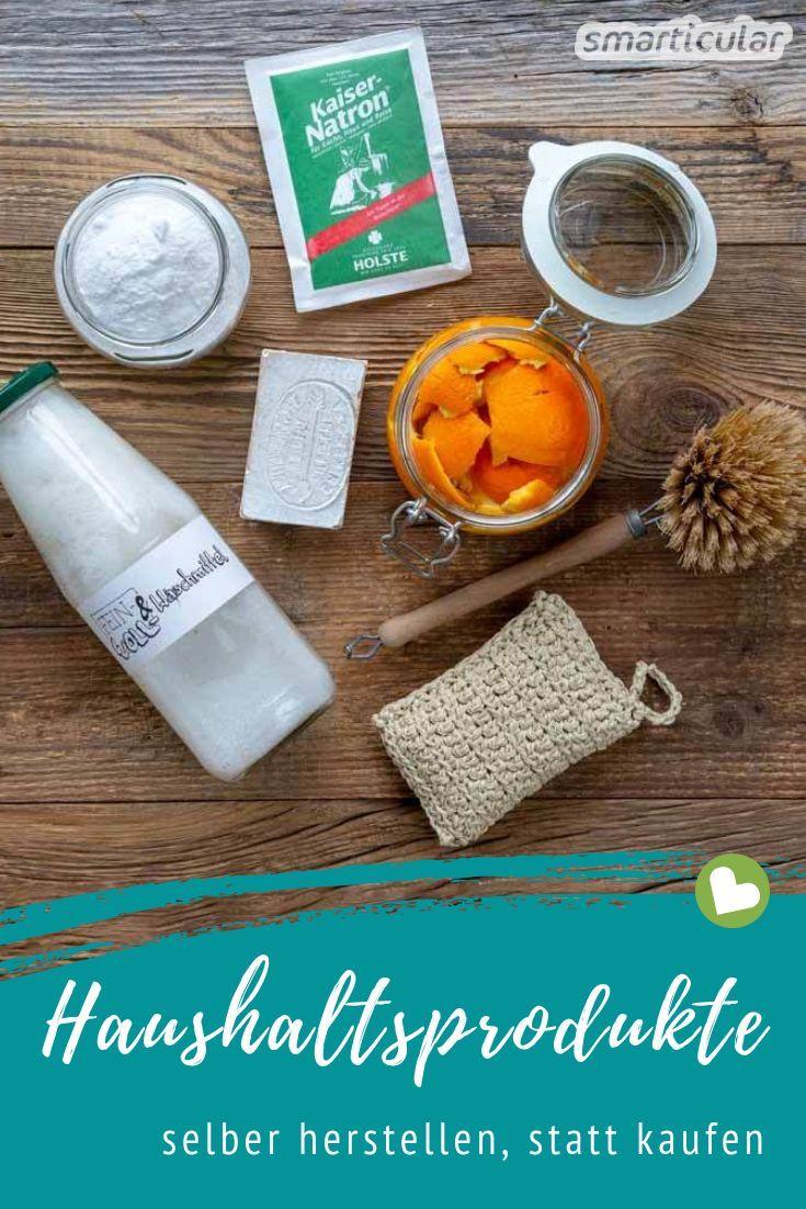 Viele Haushaltsprodukte lassen sich durch selbst gemachte Alternativen und Hausmittel ersetzen. Hier findest du Rezepte für Waschmittel, Reiniger und Co.