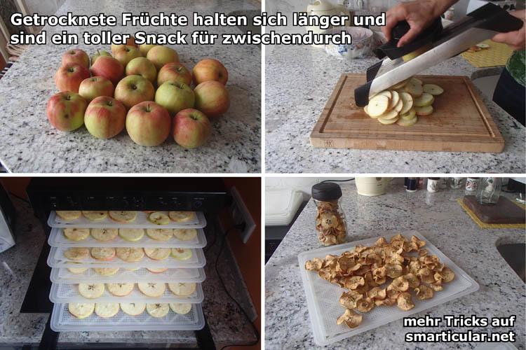 Früchte durch Trocknen haltbar machen - ein leckerer und gesunder Snack