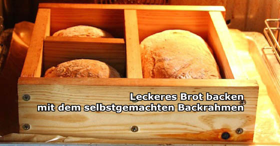 perfektes brot backen mit dem selbst gemachten backrahmen. Black Bedroom Furniture Sets. Home Design Ideas