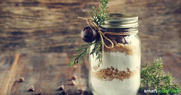 Köstliche Geschenke im Glas! Backmischungen für deinen Lieblingskuchen verschenken!