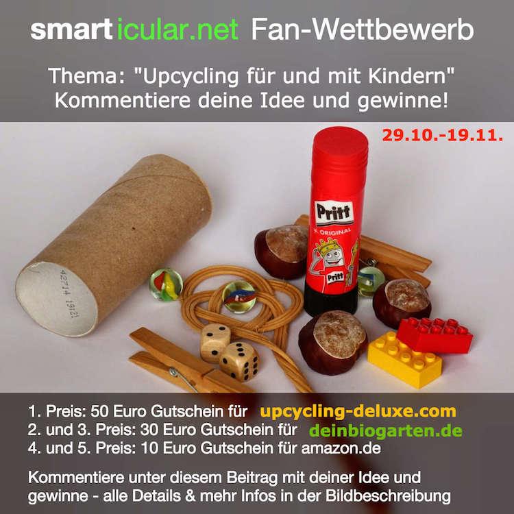 smarticular.net Fan-Wettbewerb: Upcycling für und mit Kindern