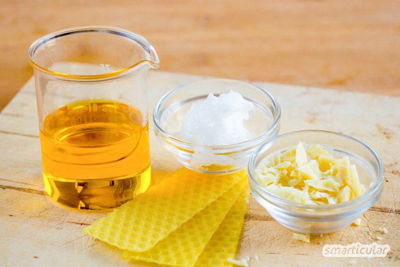 Pflegende und natürliche Hautcreme muss nicht teuer sein. Mit wenigen Zutaten mixt du deine eigene Pflegecreme. Hier ist ein einfaches Rezept für den Anfang
