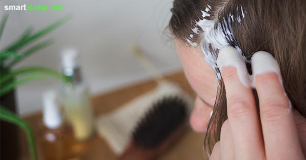Bei irritierter Kopfhaut und sprödem Haar hilft eine natürliche Haarkur, die du aus Quark und Honig in Sekundenschnelle selber machen kannst.