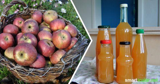 Geht auch ohne Entsafter: Äpfel zu leckerem Saft einkochen