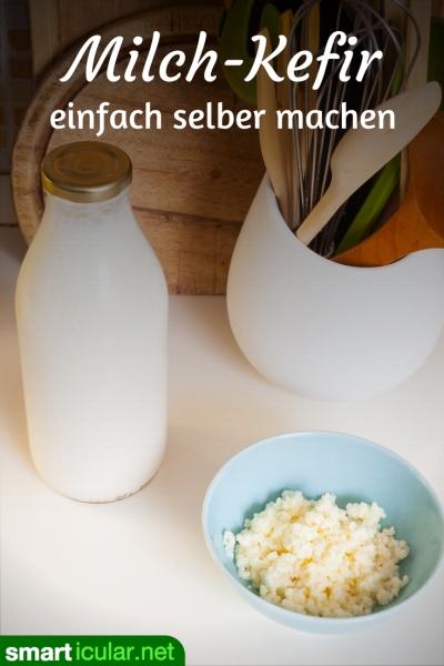 Eine Alternative zu Zuckerwasser aus dem Supermarkt ist der Milchkefir. Mit wenigen Zutaten stellst du ihn daheim einfach selber her. Lass es dir schmecken!