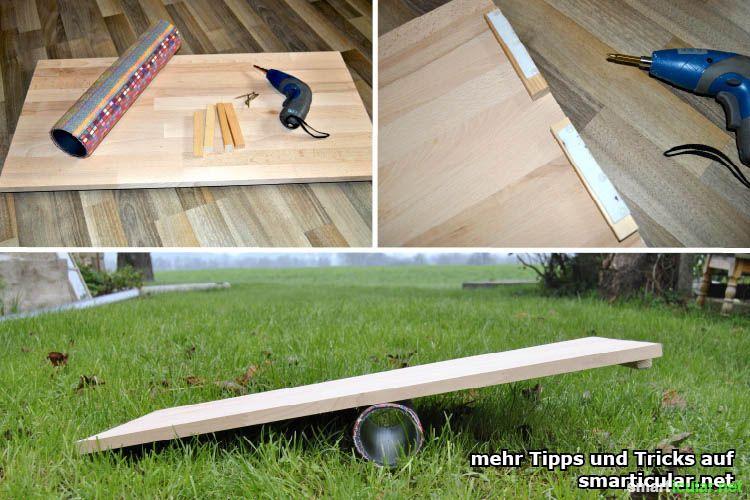 balanceboard zum gleichgewichtstraining selber bauen. Black Bedroom Furniture Sets. Home Design Ideas