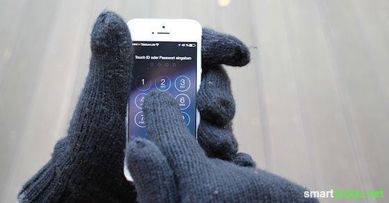 Smartphones auch mit Handschuhen bedienen