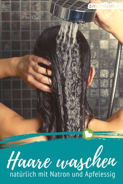 Haare waschen mit Natron und Apfelessig: Herkömmliches Shampoo mit umweltschädlichen Tensiden und fragwürdigen Zusätzen ist zum Haarewaschen gar nicht nötig!
