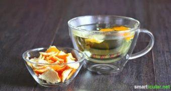 Leckerer Tee aus Orangenschalen - einfach und günstig