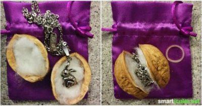 Die Walnuss-Verpackung für kleine Geschenke