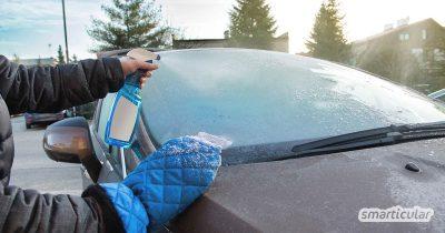 DIY-Enteiserspray - nie wieder Ärger mit vereisten Autoscheiben