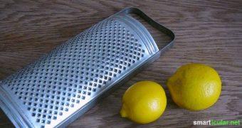 Wenn du für ein Rezept Zitronenschalen abreiben sollst haben wir einen kleinen Trick für dich, wie es noch einfacher und sauberer geht!
