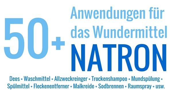 Natron ist unglaublich vielseitig und nützlich - als Reiniger, beim Backen, gegen Sodbrennen, im Deo und viel mehr.