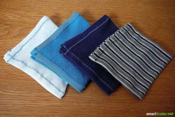 Stofftaschentücher sind umweltfreundlicher als Wegwerftaschentücher. Außerdem sparst du mit ihnen etwas Geld. Noch weniger kosten selbstgemachte Tücher!