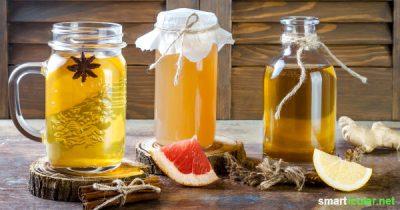Getränke in Flaschen, Kapseln oder als Pulver kaufen? Probier doch mal diese leckeren Getränke selbst herzustellen! Für die Gesundheit und das Sparschwein!
