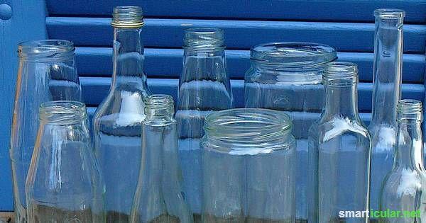 Möchtest du Gurkengläser, Saftflaschen oder andere Glascontainer wiederverwenden, störst dich aber an den Etiketten? Mit diesem Trick löst du sie alle!