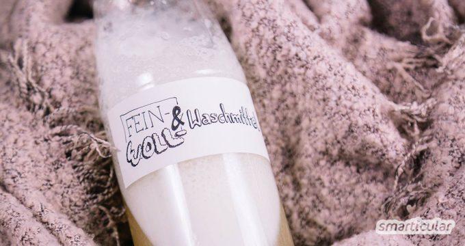 Waschmittel herstellen ist einfach, günstig und ökologisch. Nur für Wolle und feine Wäsche bedarf es einer speziellen Lösung. Finde heraus wie es geht!