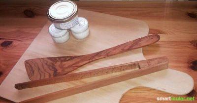 Wenn du deine Holzmöbel, Bilderrahmen, Schneidebretter oder anderes Holz pflegen möchtest, haben wir ein tolles Rezept zur natürlichen und günstigen Pflege!