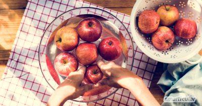 Bist du nicht sicher ob das gekaufte Obst und Gemüse wirklich rein ist? Mit diesen Tricks beseitigst du Chemikalien, Wachs und andere ungeliebte Stoffe