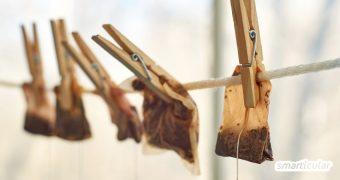 Gebrauchte Teebeutel sind viel zu schade für die Tonne! Die enthaltenen Nährstoffe und ätherischen Öle lassen sich noch auf vielfältige Weise weiter verwenden.