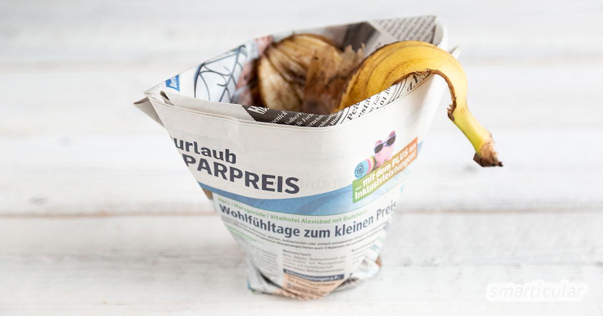 Fabulous Tüten aus Zeitungspapier falten, ohne kleben + Videoaleitung DS83