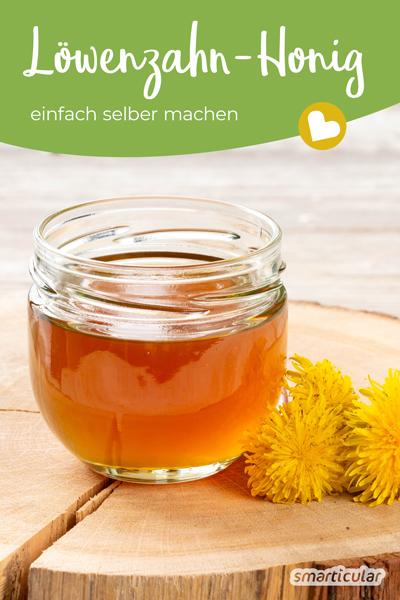 Löwenzahn-Honig lässt sich in vielen Speisen und Getränken als Alternative zu Honig zum Süßen verwenden. Mit diesem Rezept kannst du ihn einfach selber machen.
