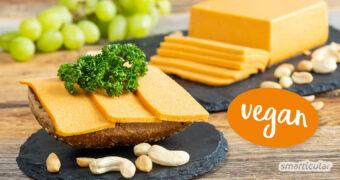 Veganer Schnittkäse gelingt mit diesem Rezept ganz leicht. Das Ergebnis ist ein würziger Nusskäse, der ganz ohne tierische Produkte und Soja auskommt.