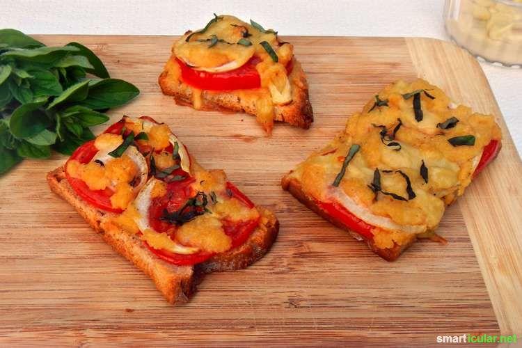 Suchst du nach einer leckeren, gesunden und veganen Alternative zum Ofenkäse für Pizza, Aufläufe und andere Rezepte? Hier findest du zwei geniale Rezepte!