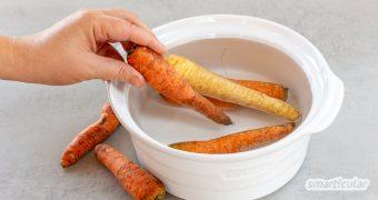 Schrumpelige Möhren, schlapper Salat und andere alte Gemüse müssen nicht in der Mülltonne landen. Sie lassen sich wiederbeleben und zu leckeren Gerichten verarbeiten.