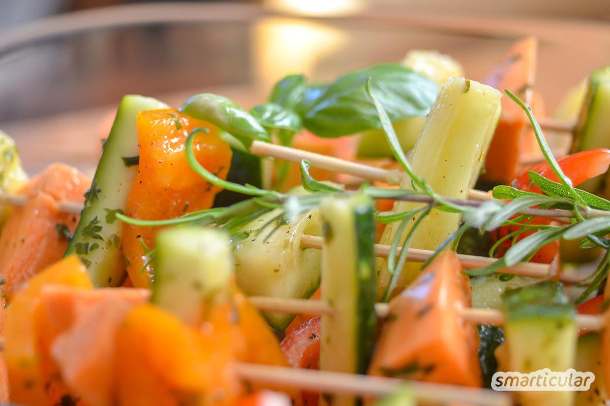 Grillen ohne Fleisch? Kein Problem! Mit diesen Rezepten grillt es sich auch vegan, vegetarisch und dazu noch köstlich und gesund! Auch für Fleischfreunde ;)